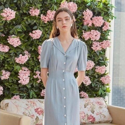 低至3折W Concept 折扣区美裙上新 温柔海蓝色连衣裙$71