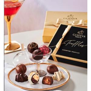 Godiva高贵金带黑盒款经典松露巧克力礼盒 12pc