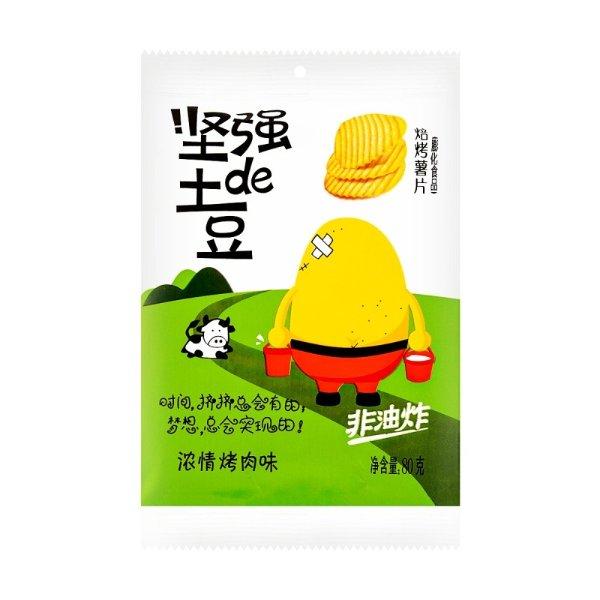 小王子 坚强de土豆 焙烤薯片 浓情烤肉味 80g