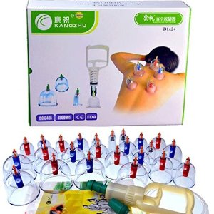$22Kangzhu Biomagnetic Chinese Cupping Therapy Cup, Set of 24