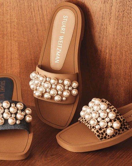 新款珍珠凉鞋