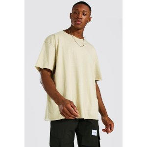 boohooMANOversized Short Sleeve Raw Hem T-shirt | boohooMAN