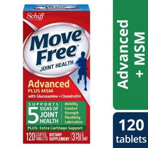 每瓶仅$13.99 再送$10 Walmart 礼卡Schiff  Move Free 维骨力MSM款 绿瓶 120粒 2瓶