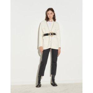 Sandro白色针织外套