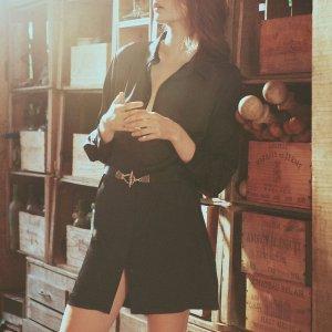 BA&SH6折,码全,2色可选衬衫裙