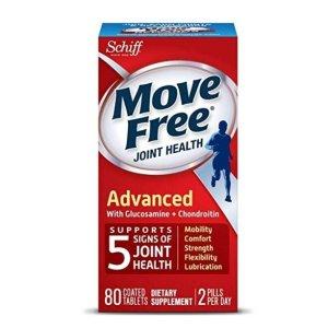 $7.49 (原价$18.47)包邮 美亚自营白菜价:Move Free 红瓶基础款维骨力80粒