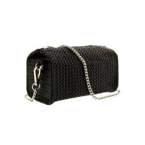 41d42a34ac03 HS CollectionHs1152 Nr Pia Black Leather Wristlet Crossbody Bag