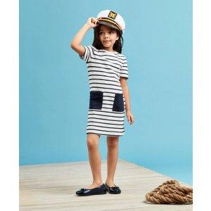 Girls Cotton Stripe Dress - Brooks Brothers
