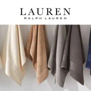 5折起 低至$9.6Lauren Ralph Lauren 抗菌浴巾、毛巾热卖  12色可选