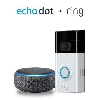 Ring Video Doorbell 2 智能门铃 + Echo Dot 3代 套装