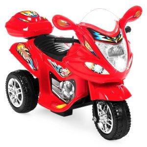 优惠码:MOTORCYCLE3轮儿童电动摩托车,带灯效、音效和存储空间