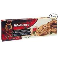 Walkers Shortbread 覆盆子白巧克力饼干, 5.3-Oz 4包