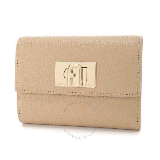Ladies 1927 裸粉色折叠钱包