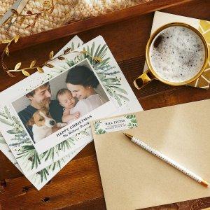 低至5折 立减$1511.11独家:Vistaprint 创意DIY贴纸 照片圣诞贺卡 自己亲手设计
