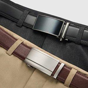 单条低至$172021来啦:CHAOREN 男士真皮腰带2条礼盒装 多款可选