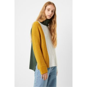 French ConnectionRiver Vhari Color Block Roll Neck Sweater