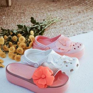 5折 $20收小花凉鞋Crocs官网 精选男女士洞洞鞋热卖