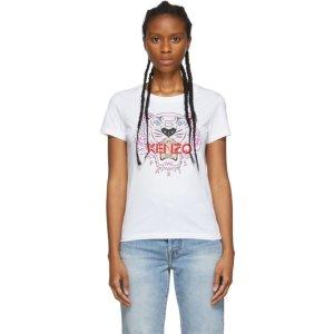 KenzoWhite Tiger T-Shirt