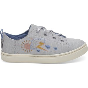 TomsGrey Multi Drizzly Weather Youth Lenny Sneakers