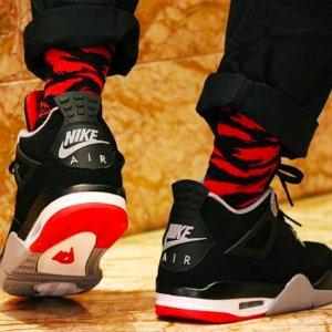 5月4日美东10点 $200+包邮新品预告:Air Jordan 4 Bred 元年经典复刻 妹子可入大童款