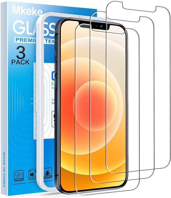 iPhone 12/12 Pro 钢化膜 3片装