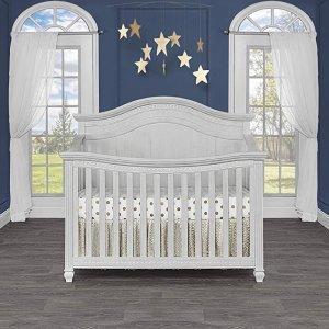 最高立减$300 $290起史低价:Evolur 高颜值高品质 5合1 多功能婴儿床