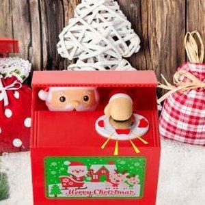 $6.43Mansalee 会偷硬币的圣诞老爷爷存钱罐