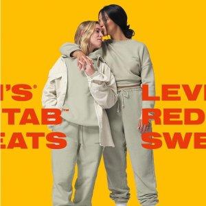 一律$99.95 奶茶灰、糖果色都有新品上市:Levi's官网 纯色RED TAB系列卫衣卫裤热卖