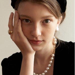 低至6折 珍珠耳饰$86Tatiana 复古少女梦幻珍珠、贝母首饰优势汇