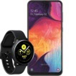 送三星 A50手机+ Gear Sport手表包月电话+短信+5GB LTE 一次性购机费1欧元
