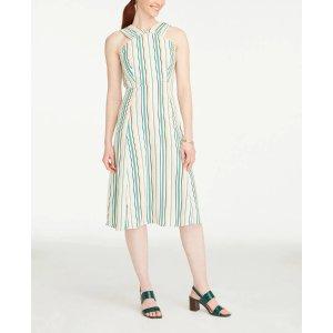 满$100立减$10条纹连衣裙
