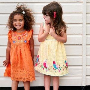 8.5折 高品质女童衣,舒适好看新品上市:JoJo Maman Bébé 女童春夏连衣裙新款特卖