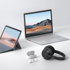 加量不加价 现已发售微软更新Surface全家桶:Book 3, Go 2, Headphones 2和Earbuds