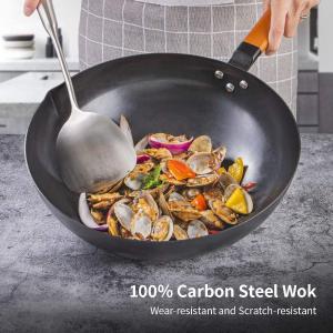 折后€27.18 原价€39.97SKY LIGHT 炒锅32.5 cm 100%碳钢 加热快速均匀