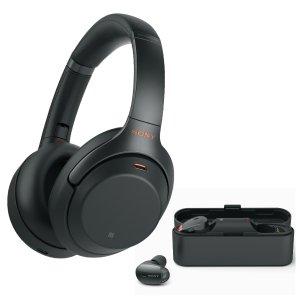 $348 黑色银色可选独家:Sony WH-1000XM3 无线降噪耳机+WF-1000X 降噪耳塞