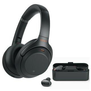 $348(原价$498) 黑色银色可选独家:Sony WH-1000XM3 无线降噪耳机+WF-1000X 降噪耳塞