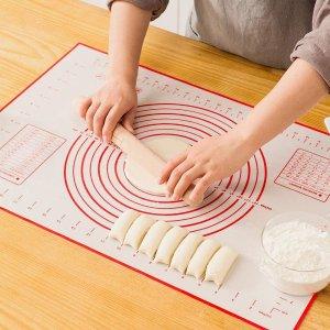 仅€9.89 平平无奇烘焙小天才烘焙必备硅胶垫 60 x 40cm 不粘防滑 不含BPA 可循环使用
