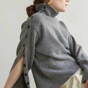 $89 (原价$208)闪购:KINDERSALMON 设计感高领毛衣