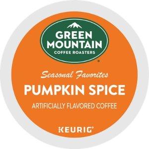 Green Mountain Coffee添加南瓜香料咖啡胶囊 24个