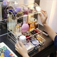 Formatex 3层带防尘盖超大化妆品收纳盒