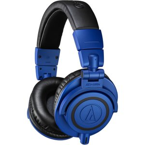 Audio Technica ATH-M50x Professional Monitor Over-Ear Headphones w/ Bluetooth Adapter