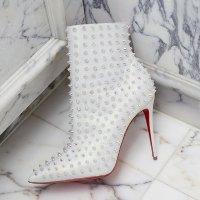 Christian Louboutin 铆钉高跟踝靴