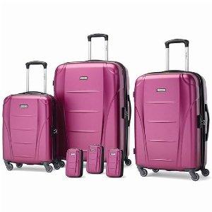 $259.99(原价$509.85)史低价:Samsonite Winfield NXT 新秀丽行李箱6件套 豆沙粉色