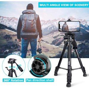 $48.44(原价$56.99)Torjim 相机/手机三脚架 带无线遥控器 自己也能出大片