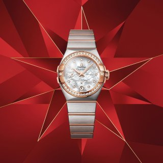 Extra $50 OffDealmoon Exclusive: OMEGA Constellation Diamond Mother of Pearl Ladies Watch 12325246055005
