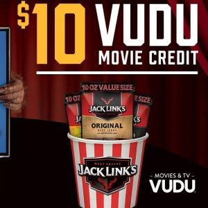 Free $10 VUDU CreditBuy 10 oz. Jack Links at Walmart