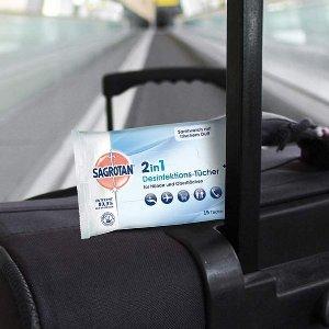 15片仅售€1.71Sagrotan 2合1 消毒湿巾 适用对手和各种表面进行消毒