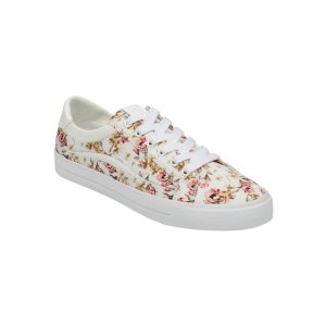 Riky Lace Up Sneaker - Floral Satin