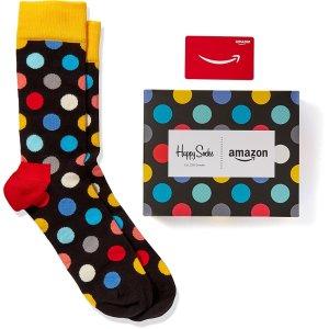 买礼卡送时尚限定美袜Amazon.com 买礼卡送 Happy Socks限定版波点袜