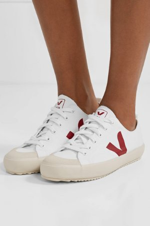 Veja | + NET SUSTAIN Nova organic cotton-canvas sneakers | NET-A-PORTER.COM